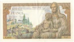 1000 F Commerce Et Industrie - DJ 11/2/1943 - E.3825/297 - 1871-1952 Anciens Francs Circulés Au XXème