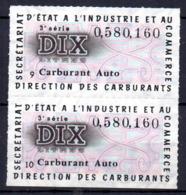 Colphi Paire 2 Tickets De Rationnement Carburant Automobile 10 Litres - Old Paper