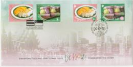 Singapour Thailande 2015 FDC Mixte Emission Commune Gastronomie Dessert Singapore Thailand Joint Issue Mixed FDC - Emissioni Congiunte