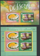 Singapour Thailande 2015 Emission Commune Gastronomie Dessert Singapore Thailand Joint Issue Desserts - Emissions Communes