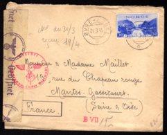 STO En Norvège - Censure Militaire - OVRE-ARDAL Du 31/03/44 - Norwegen