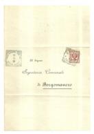 """5689""""BUSTA DI CORRISPONDENZA INVIATA AL SEGR. COMUNALE  DI BORGOMANERO (NO) DAL SEGR. COM. DI BRIONA (NO)  - 1908""""ORIG. - 1900-44 Vittorio Emanuele III"""