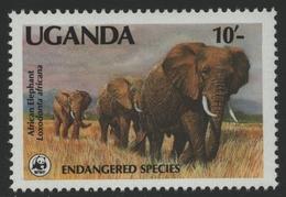 Uganda 1988 - Mi-Nr. A 601 ** - MNH - Elefant / Elephant (II) - Uganda (1962-...)