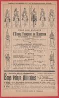 L'armée Française En Réduction. Infanterie. Cavalerie. Pour Nos Enfants. Bon Points Militaire. 1901. - Publicités