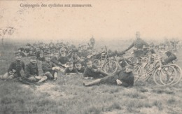 COMPAGNIE CYCLISTE AUX MANOEUVRES - Manoeuvres