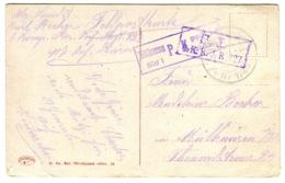 1917 WWI Censored Postcard Hungary-> M Mulhouse SL 6. K.R.J.R 327 Violet + Boxed Mülhausen P.K. Geprüft - Hongrie