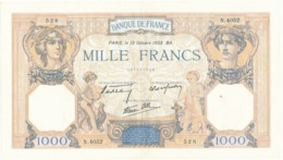 """Billet De 1000 F   """"Cérès Et Mercure"""" - 13 Octobre 1938 , N.4052/ 528 - 1 000 F 1927-1940 ''Cérès E Mercure''"""