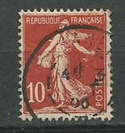 FRANCE: Obl., N° YT 134d (I), Rouge, TB - 1906-38 Säerin, Untergrund Glatt
