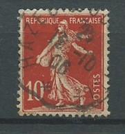 FRANCE: Obl., N° YT 134d (I), Rouge, TB - 1906-38 Semeuse Camée