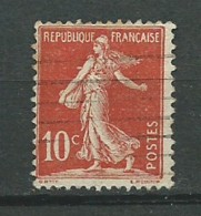 FRANCE: Obl., N° YT 134e (II), Rouge Clair, TB - 1906-38 Säerin, Untergrund Glatt