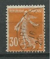 FRANCE: Obl., N° YT 141, TB - 1906-38 Sower - Cameo