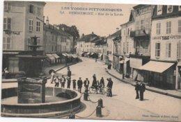 Cpa B97 REMIREMONT Rue De La Xavée-fontaine-commerces-tabac Etc.. Belle Animation - Remiremont