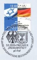 IL+ Israel 2005 Mi 1841 Diplomatische Beziehungen Deutschland-Israel Ersttagsstempel - Israel