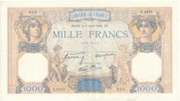 """Billet De 1000 F   """"Cérès Et Mercure"""" - 11 Avril 1940 , Z.9227/ 825 - 1871-1952 Anciens Francs Circulés Au XXème"""