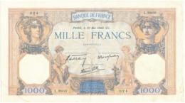"""Billet De 1000 F   """"Cérès Et Mercure"""" - 30 Mai 1940 , L.9800/ 024 - 1871-1952 Anciens Francs Circulés Au XXème"""
