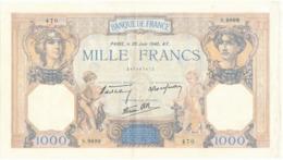 """Billet De 1000 F   """"Cérès Et Mercure"""" - 20 Juin 1940 , S.9899/ 470 - 1871-1952 Anciens Francs Circulés Au XXème"""