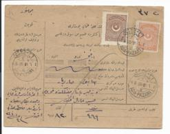 Türkei - Paketkarte - Bunte MiF 1925 Ab Ada-Pazari - 1921-... Republik