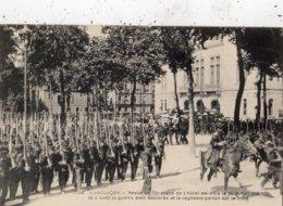 MONTLUCON REVUE DU 121 E PLACE DE L'HOTEL DE VILLE LE 14 JUILLET 1914 LE 2 AOUT LA GUERRE ETAIT DECLAREE ET LE REGIMENT - Montlucon