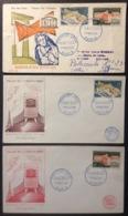 179- UNESCO 1177 1178 FDC Premier Jour 1/11/1958 Lot 3 Lettre - FDC
