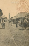 Marcophilie - Cachet Des Troupes D'Occupation Du Maroc Occidental En 1913 Sur Carte De Rabat - Postmark Collection (Covers)