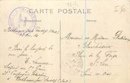 Marcophilie - Beau Cachet Du 5e Regiment Du Génie - 31e Compagnie RAT - FM 1914 Sur Carte De Poissy (78) - Oorlog 1914-18