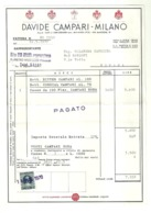 "5690"" DAVIDE CAMPARI-MILANO-FATTURA N° NO 1550 DEL 14/5/1970 ""ORIG. - Italy"