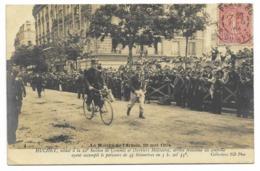75-PARIS-Marche De L'Armée 29.5.1904-HUCHET, Soldat 22e Section De Commis... Arrive 3e Au Contrôle...1904  Animé - Ausstellungen