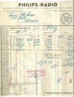 """5691"""" PHILIPS RADIO-MILANO-FATTURA VENDITA CONTANTI N° 9028 DEL 7/8/1947 """"ORIG. - Italy"""