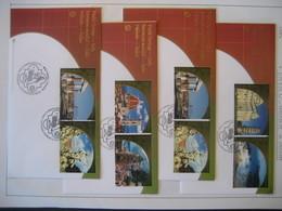 Italien- 4 FDC Belege 2002 Unesco Welterbe In Italien - Wien - Internationales Zentrum