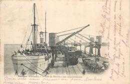 """CPA 33 Gironde Pauillac """"Ville De Maceïo"""" Aux Appontements Compagnie Maritime Bateaux Transbordeur - Pauillac"""