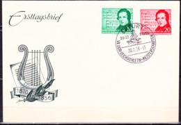 DDR GDR RDA - 100. Todestag Von Robert Schumann (MiNr: 528/9) 1956 - FDC Sonderstempel Erfurt - [6] Repubblica Democratica
