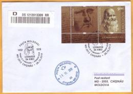 2019 Moldova Moldavie FDC  Leonardo Da Vinci  Italian Painter, Scientist, And Engineer. - Famous People