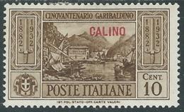 1932 EGEO CALINO GARIBALDI 10 CENT MH * - RB9-4 - Egeo (Calino)