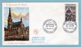 FDC France 1961 - 8ème Centenaire De Thann - YT 1308 - 68 Thann - FDC