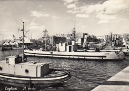 CAGLIARI-IL PORTO-CARTOLINA VERA FOTOGRAFIA  VIAGGIATA IL 16-9-1959 - Cagliari