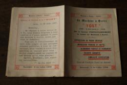 1897 Machine A Ecrire YOST Tres Rare France Lyon - Historische Dokumente