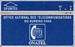 BURKINA FASO : BKF-2  : 20u ONATEL Blue - Logo   Fine Used (multiple Bid) - Burkina Faso