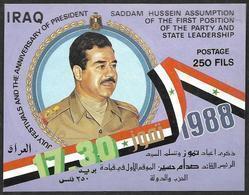 IRAQ  1988 -  BF 51  Non Dentelé -  Sadam Hussein   -  NEUF** - Irak