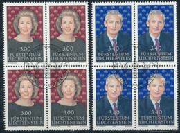 Zumstein 965-966 / Michel 1024-1025 Viererblockserie Mit ET-Zentrumstempel - Used Stamps