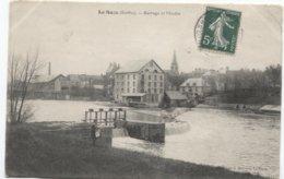 La Suze - Barrage Et Moulin - Molen - Mill - Ed J Bouveret - Homme Avec Gazette - - La Suze Sur Sarthe