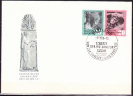 DDR GDR RDA - Von Der Sowjetunion Zurückgeführte Antike Kunstschätze (MiNr: 667/8) 1958 - FDC Sonderstempel Berlin W 8 - FDC: Sobres