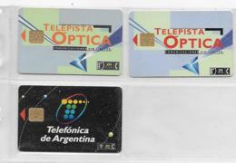 3 Télécartes D'ARGENTINE - Argentine