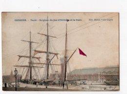 "38  -  OOSTENDE  -  Yacht "" BELGICA "" Du Duc D'Orléans Et La Gare - Oostende"