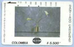 COLOMBIA : COLMT51 $5.500 SANTIAGO CAR 1993 Dos Cartuchos USED - Kolumbien