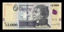 Uruguay 2000 Pesos Uruguayos 2015 Pick 99 SC UNC - Uruguay