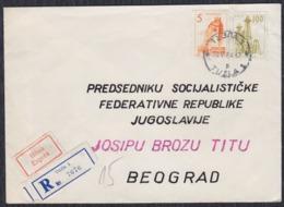 Yugoslavia 1964 Registered Letter Sent To Marshal Josip Broz Tito - Briefe U. Dokumente
