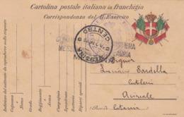 FRANCHIGIA - MILITARE - MESSINA - VIAGGIATA PER ACIREALE ( CATANIA ) 1916 - 1900-44 Victor Emmanuel III