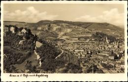 Cp Kirn An Der Nahe In Rheinland Pfalz, Blick Auf Den Ort Mit Kyrburg - Deutschland