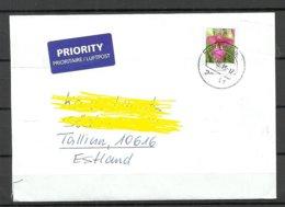 Deutschland BRD 2019 Flugpost Brief Nach Estland Blume As Single - [7] Federal Republic