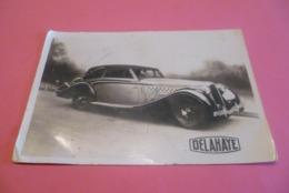 C P A---- CARTE PHOTO Glassée ---Automobile Delahaye. - Fotos